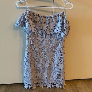 Astr the Label Strapless Lace Dress